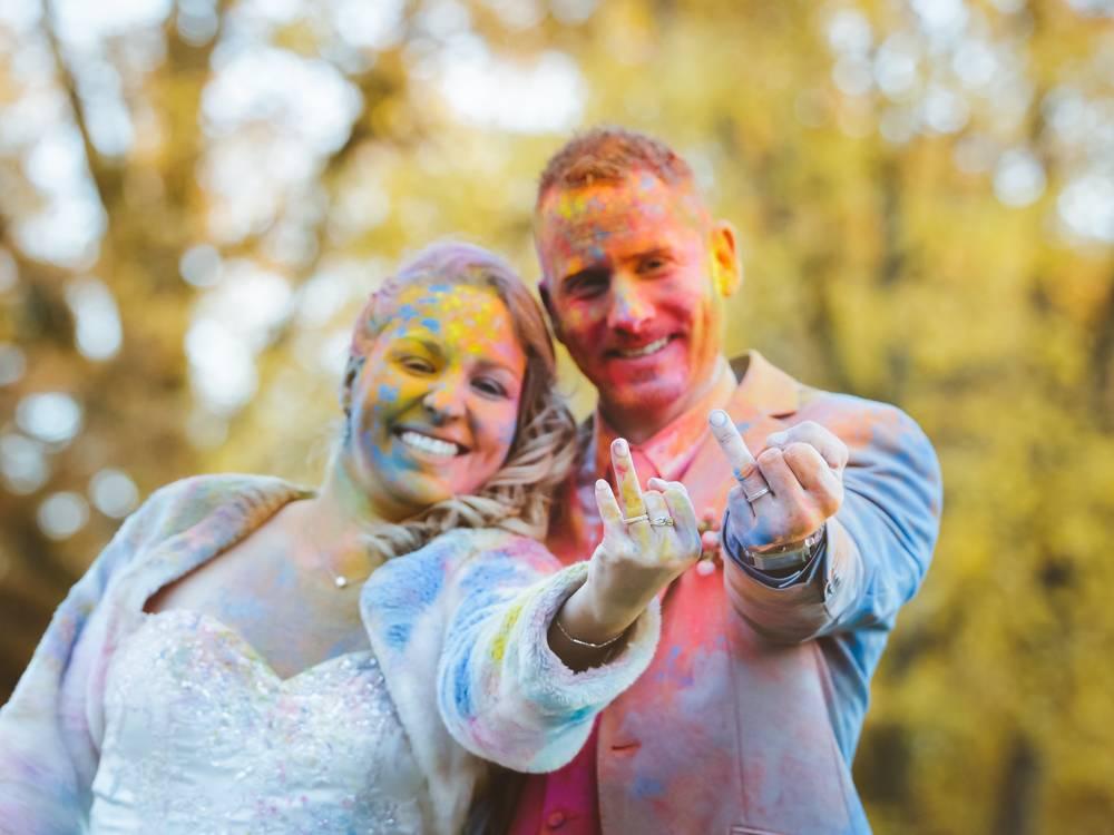Poudres colorées holi EVJF anniversaire